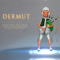 Dermut Sheep Bagpiper 3D Model