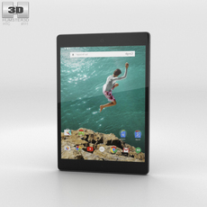 HTC Nexus 9 Indigo Black 3D Model