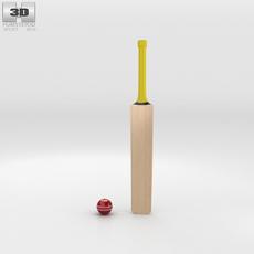 Cricket Bat & Ball 3D Model