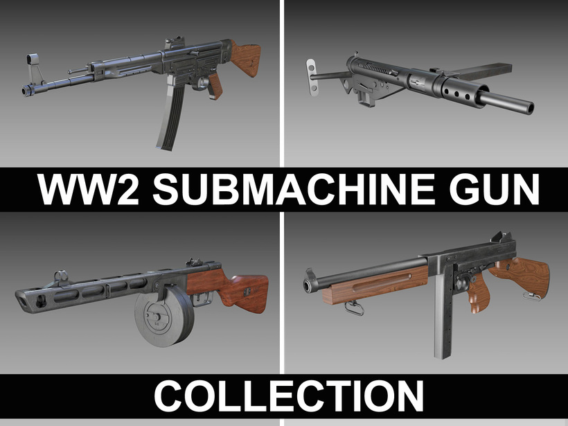 WW2 Submachine guns - Collection 3D Model