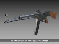 Sturmgewehr 44 - MP44 - German Assault Rifle 3D Model