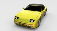 Porsche 944 Cabriolet with Interior rev 3D Model