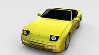 Porsche 944 Cabriolet w interior top down rev 3D Model