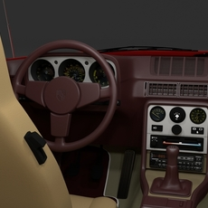 Early Porsche 944 with interior rev 3D Model