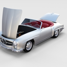Fully modeled w interior Mercedes 190SL rev 3D Model