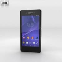 Sony Xperia E3 Black 3D Model