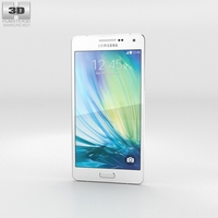Samsung Galaxy A5 Pearl White 3D Model