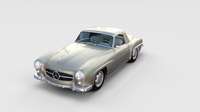 Mercedes 190SL with Interior Hard Top rev 3D Model