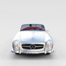 Mercedes 190SL with Interior rev 3D Model