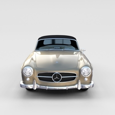 Mercedes 190SL with Interior Soft Top rev 3D Model