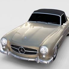 Mercedes 190SL Soft Top rev 3D Model