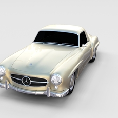 Mercedes 190SL Hard Top rev 3D Model