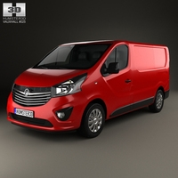 Vauxhall Vivaro Panel Van L1H1 2014 3D Model