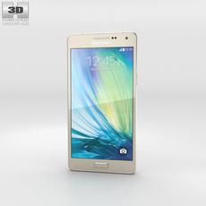 Samsung Galaxy A5 Champagne Gold 3D Model