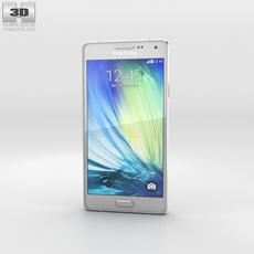 Samsung Galaxy A3 Platinum Silver 3D Model