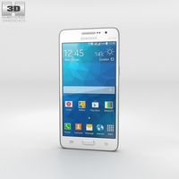 Samsung Galaxy Grand Prime Duos TV White 3D Model