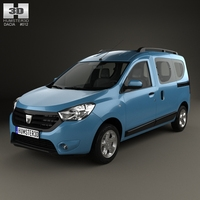 Dacia Dokker 2012 3D Model