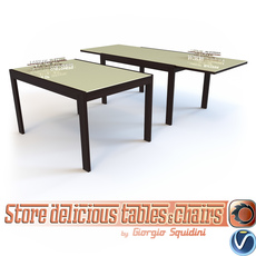 Table NEW SMART G/4704-V OLIVO & GODEASSI 3D Model