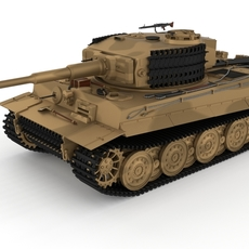 Panzer Tiger Tank Late 1944 v1 3D Model