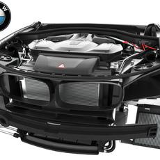 BMW X5M(F85) & X6M(F86) V8 Engine (Grey Metallic) 2015-2018 3D Model