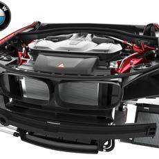 BMW X5M(F85) & X6M(F86) V8 Engine (Red) 2015-2018 3D Model