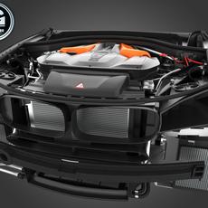 BMW G-Power X5M(F85) & X6M(F86) V8 Engine 750HP 2016-2018 3D Model