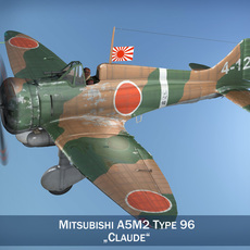 Mitsubishi A5M2 Type96 - Claude 3D Model