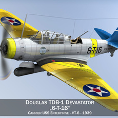 Douglas TDB-1 Devastator - 6T16 3D Model