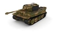 Panzer Tiger Tank Late 1944 v2 3D Model