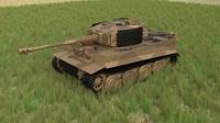 Panzer Tiger Tank Late 1944 HDRI v1 3D Model