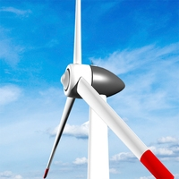 Clean energy - Eolic turbine 3D Model