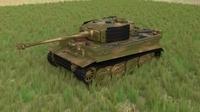 Panzer Tiger Tank Late 1944 HDRI v2 3D Model
