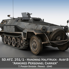 SD.KFZ 251/1 Ausf.B - Halftruck - 7PD 3D Model