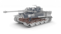 Panzer Tiger Tank Late 1944 Clay with interior 3D Model