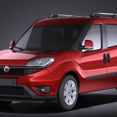 Fiat Doblo Passenger 2015 VRAY 3D Model