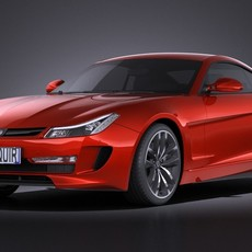 Generic Average Sport Coupe 2015  VRAY 3D Model