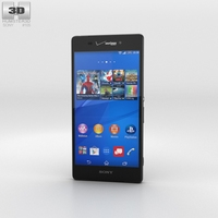 Sony Xperia Z3v Black 3D Model