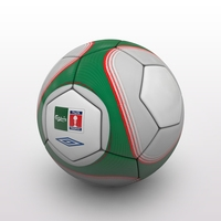 FA Cup Ball 2009 - Green - Trophy 3D Model