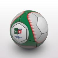 FA Cup Ball 2009 - Green - Vase 3D Model