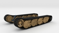 Tiger Tank Tracks and Suspension (Catepillar tracks) 3D Model