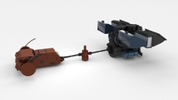 Panzer Tiger Engine and Transmission 3D Model