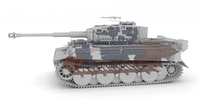 Fully built Panzer Tiger Tank Late 1944 Clay (interior and engine) 3D Model