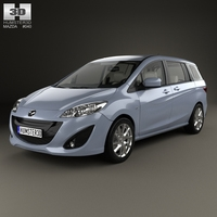 Mazda 5 with HQ interior 2010 3D Model