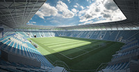 European Soccer Stadium 3D Model