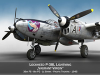 Lockheed P-38 Lightning - Vagrant Virgin 3D Model