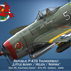 Republic P-47D Thunderbolt - Little Bunny 3D Model
