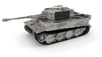 Panzer Tiger Tank Late 1944 v3 3D Model