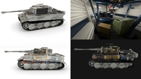 Fully built Panzer Tiger Tank Late 1944 v3 (interior and engine) 3D Model