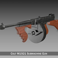 Colt Model1921 Thompson Submachine Gun 3D Model