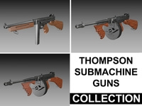 Thompson Submachine Gun - Collection 3D Model